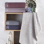 Набор полотенец для ванной 6 шт. Sikel ERIKA хлопковая махра 50х90, фото, фотография