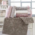 Набор полотенец для ванной 6 шт. Sikel FERFORJE JAKARLI хлопковая махра 70х140, фото, фотография