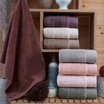 Набор полотенец для ванной 4 шт. Sikel JULIET хлопковая махра V1 50х90, фото, фотография