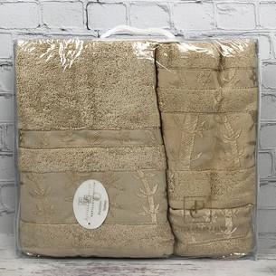 Набор полотенец для ванной 3 пр. Pupilla ELIT бамбуковая махра бежевый