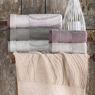 Набор полотенец для ванной 6 шт. Sikel LAMINANT хлопковая махра 50х90