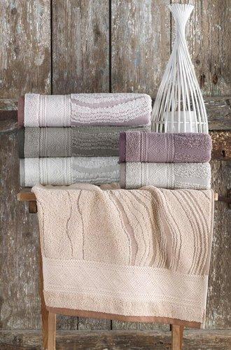 Набор полотенец для ванной 6 шт. Sikel LAMINANT хлопковая махра 50х90, фото, фотография