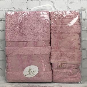 Набор полотенец для ванной 3 пр. Pupilla ELIT бамбуковая махра сиреневый