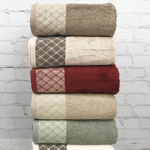 Набор полотенец для ванной 6 шт. Pupilla POLO бамбуковая махра 50х90