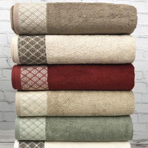 Набор полотенец для ванной 6 шт. Pupilla POLO бамбуковая махра 70х140