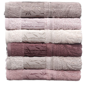 Набор полотенец для ванной 6 шт. Pupilla SINGLE бамбуковая махра 50х90
