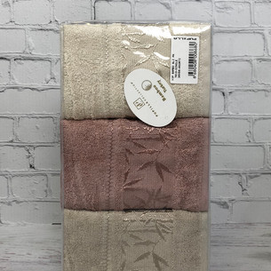 Набор полотенец для ванной 6 шт. Pupilla SINGLE бамбуковая махра 30х50