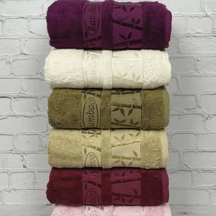 Набор полотенец для ванной 6 шт. Pupilla GOLD бамбуковая махра 50х90