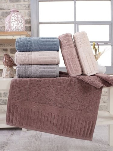 Набор полотенец для ванной 6 шт. Sikel PIANO хлопковая махра 70х140, фото, фотография