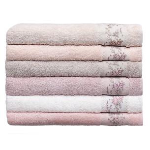 Набор полотенец для ванной 6 шт. Pupilla RONESANS бамбуковая махра 70х140