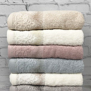 Набор полотенец для ванной 6 шт. Pupilla SILA хлопковая махра 50х90