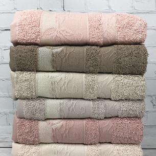 Набор полотенец для ванной 6 шт. Pupilla FIDAN хлопковая махра 50х90