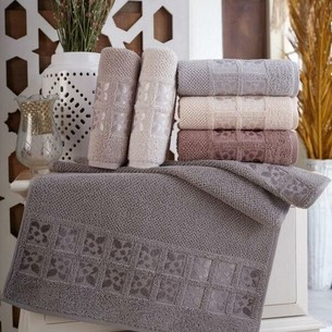 Набор полотенец для ванной 6 шт. Sikel TWOEL хлопковая махра 50х90