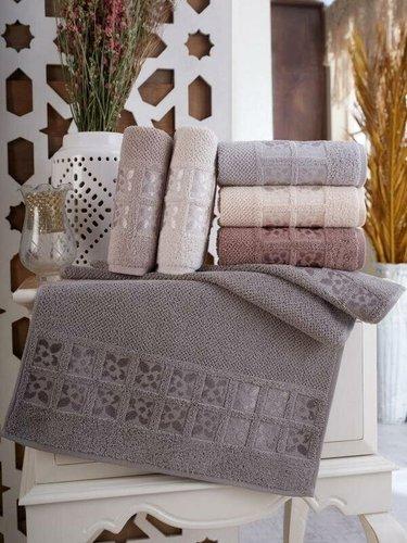 Набор полотенец для ванной 6 шт. Sikel TWOEL хлопковая махра 50х90, фото, фотография