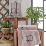 Подарочный набор полотенец для ванной 50х90, 70х140 Merzuka CLASSY хлопковая махра светло-розовый, фото, фотография