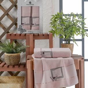 Подарочный набор полотенец для ванной 50х90, 70х140 Merzuka CLASSY хлопковая махра светло-розовый