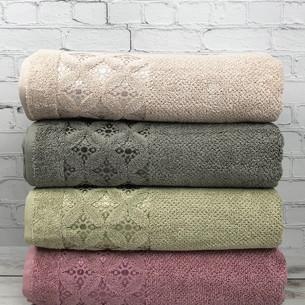 Набор полотенец для ванной 4 шт. Pupilla ASYA хлопковая махра 70х140