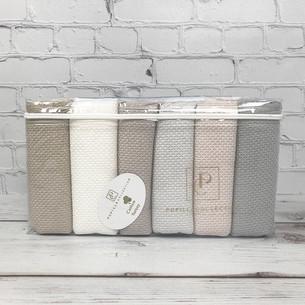 Набор полотенец для ванной 6 шт. Pupilla BERNINI хлопковая махра 40х60