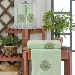 Подарочный набор полотенец для ванной 50х90, 70х140 Merzuka DAYSTAR хлопковая махра фисташковый