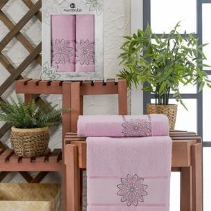 Подарочный набор полотенец для ванной 50х90, 70х140 Merzuka DAYSTAR хлопковая махра сиреневый