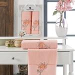 Подарочный набор полотенец для ванной 50х90, 70х140 Merzuka LOTUS хлопковая махра оранжевый, фото, фотография