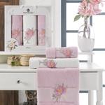 Подарочный набор полотенец для ванной 50х90(2), 70х140(1) Merzuka LOTUS хлопковая махра сиреневый, фото, фотография
