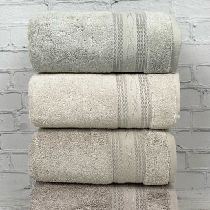 Набор полотенец для ванной 4 шт. Pupilla ALYANS хлопковая махра 50х90