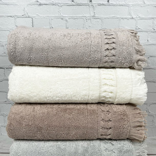 Набор полотенец для ванной 4 шт. Pupilla ELMIRA хлопковая махра 70х140