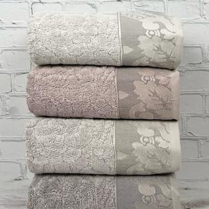 Набор полотенец для ванной 4 шт. Pupilla RIHANNA бамбуковая махра 50х90
