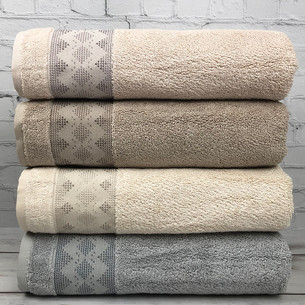 Набор полотенец для ванной 4 шт. Pupilla URLA модал махра 70х140