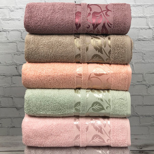 Набор полотенец для ванной 6 шт. Cestepe VIP COTTON YESIM хлопковая махра 70х140