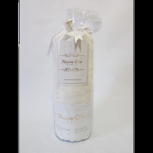 Простынь на резинке с наволочками Maison Dor FITTED CIZGILI хлопковый сатин кремовый 100х200+28