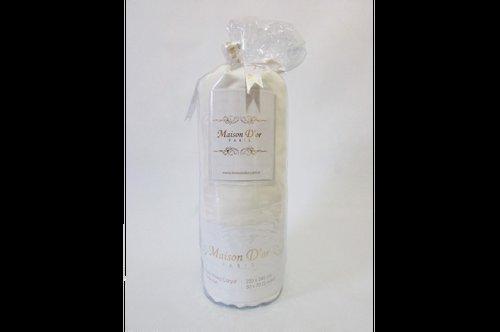 Простынь на резинке с наволочками Maison Dor FITTED CIZGILI хлопковый сатин кремовый 100х200+28, фото, фотография
