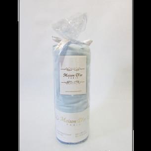 Простынь на резинке с наволочками Maison Dor FITTED CIZGILI хлопковый сатин голубой 100х200+28