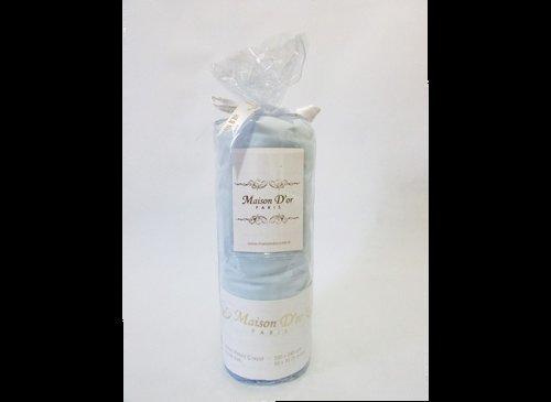 Простынь на резинке с наволочками Maison Dor FITTED CIZGILI хлопковый сатин голубой 100х200+28, фото, фотография
