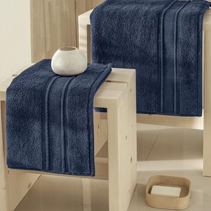 Полотенце для ванной Karna VIANA ZERO TWIST микрокоттон хлопок синий 50х90