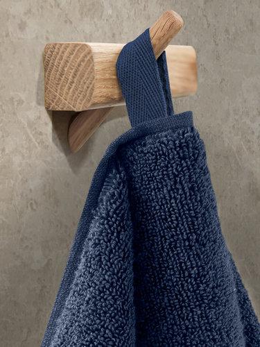 Полотенце для ванной Karna VIANA ZERO TWIST микрокоттон хлопок синий 50х90, фото, фотография