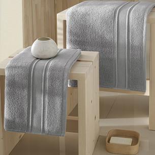 Полотенце для ванной Karna VIANA ZERO TWIST микрокоттон хлопок серый 50х90