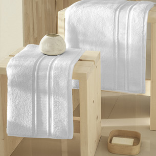Полотенце для ванной Karna VIANA ZERO TWIST микрокоттон хлопок белый 50х90