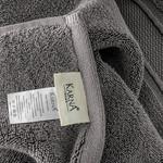 Полотенце для ванной Karna VIANA ZERO TWIST микрокоттон хлопок тёмно-серый 70х140, фото, фотография