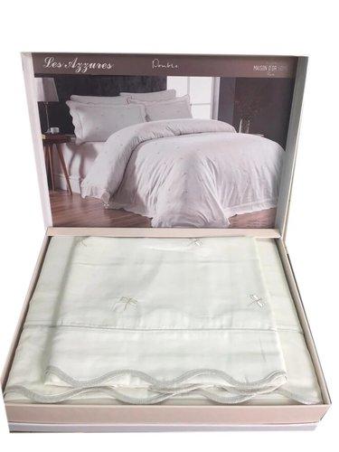 Постельное белье Maison Dor LES AZZURES хлопковый сатин кремовый евро, фото, фотография