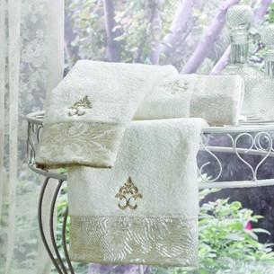 Набор полотенец-салфеток в подарочной упаковке 30х50 см (2 шт.) Tivolyo Home VITALY хлопковая махра кремовый