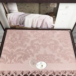 Махровая простыня для укрывания Pupilla ELIZ хлопок сухая роза 220х240