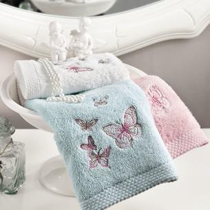 Подарочный набор полотенец-салфеток 30х50 см (3 шт.) Tivolyo Home PRIMA хлопковая махра кремовый