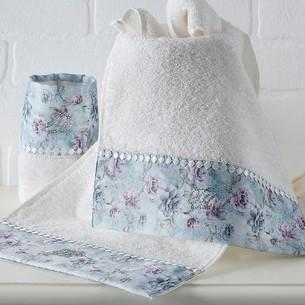 Подарочный набор полотенец-салфеток 30х50 см (2 шт.) Tivolyo Home GINEVRA хлопковая махра кремовый