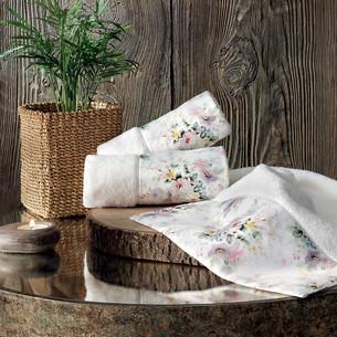 Подарочный набор полотенец-салфеток 30х50 см (2 шт.) Tivolyo Home FINOLA хлопковая махра кремовый