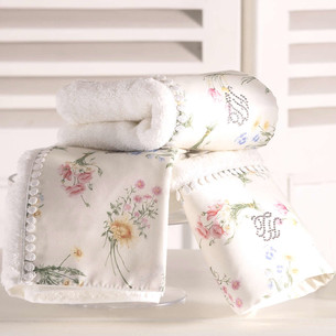 Набор полотенец-салфеток в подарочной упаковке 30х50 см (2 шт.) Tivolyo Home ELENORE хлопковая махра кремовый