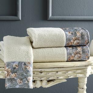 Подарочный набор полотенец-салфеток 30х50 см (2 шт.) Tivolyo Home ANIKA хлопковая махра кремовый