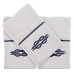 Подарочный набор полотенец-салфеток 30х50 см (2 шт.) Tivolyo Home ANCHOR хлопковая махра белый, фото, фотография