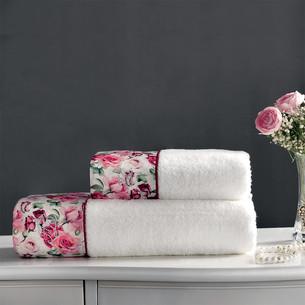 Подарочный набор полотенец-салфеток 30х50 см (2 шт.) Tivolyo Home AMORE хлопковая махра кремовый